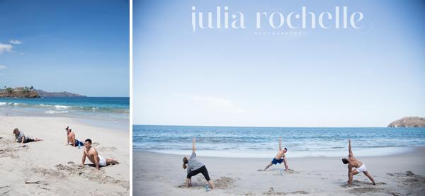 yoga on the beach Costa Rica