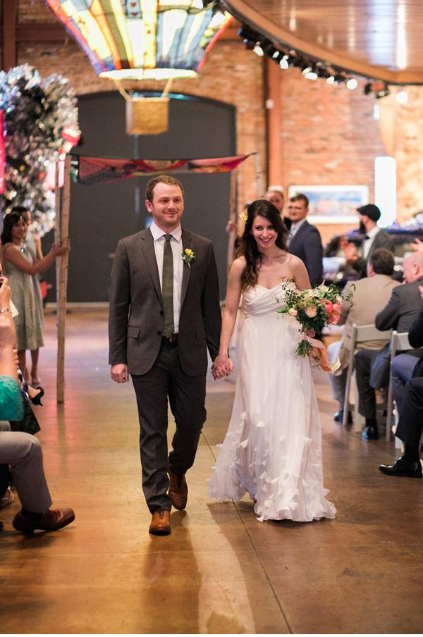 bride & groom recessional