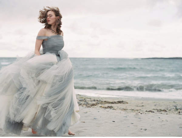 stormy ocean girl + gown