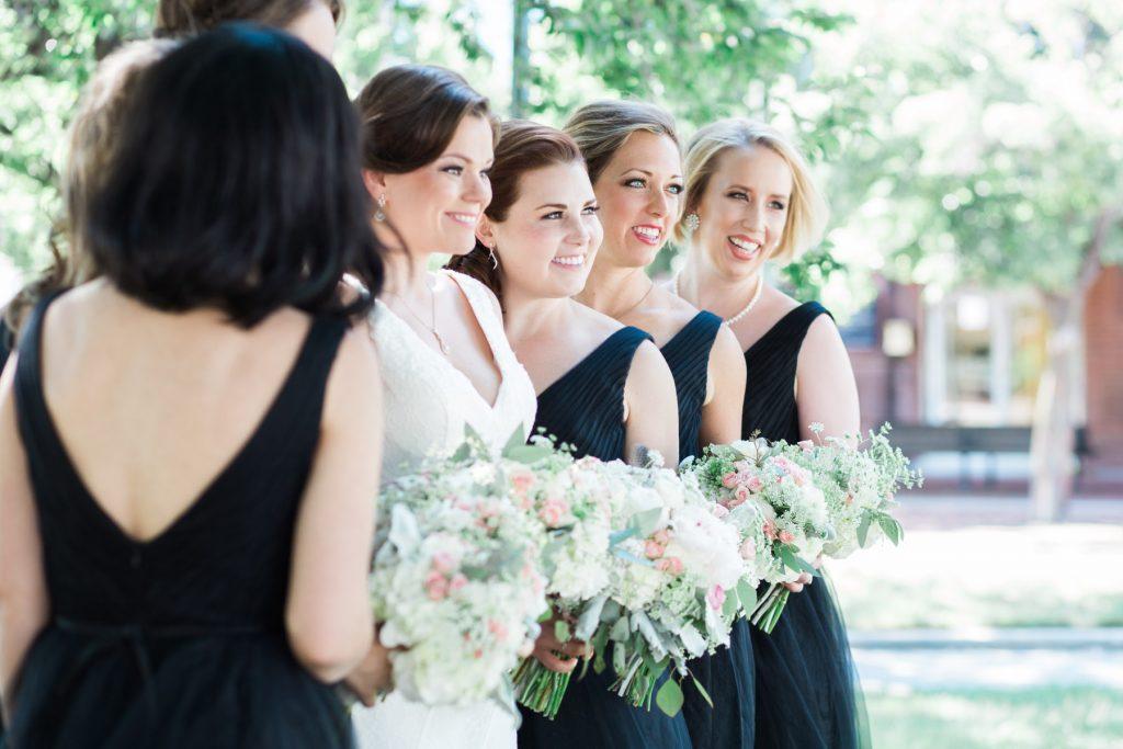 bouquets black tulle