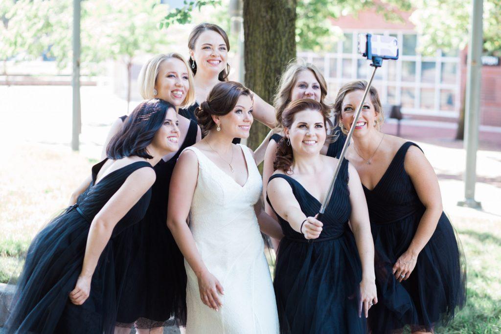 selfie stick wedding