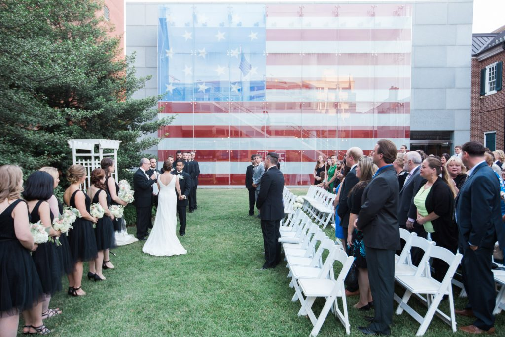 star spangled banner outdoor ceremony