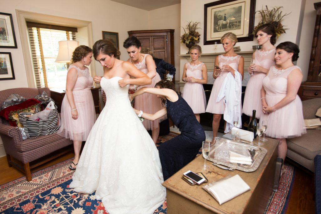 BHLDN bridesmaid gown