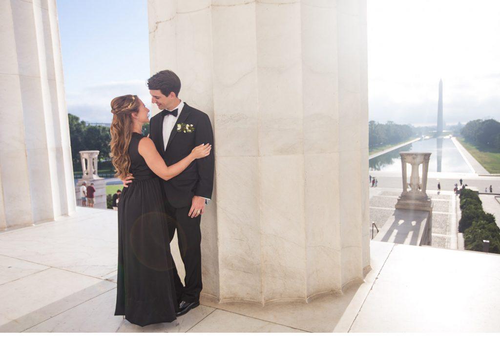 engagement Lincoln Memorial